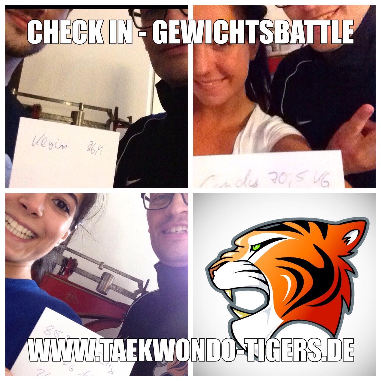 Check in der Taekwondo Tigers Gewichtsbattle in Berlin Reinickendorf und Wedding